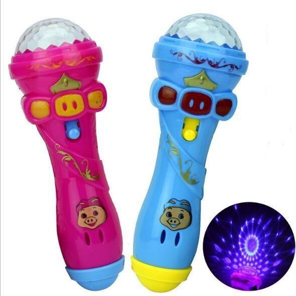 [Free Gift 🎁 ] ไมโครโฟนคาราโอเกะไร้สายพร้อมไฟสำหรับของขวัญเด็ก