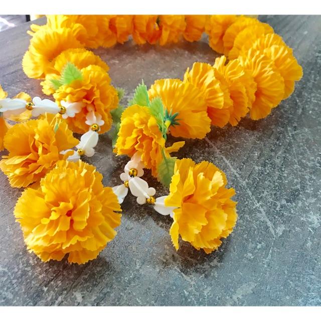 พวงมาลัย: พวงมาลัย ดอกดาวเรือง ยาว