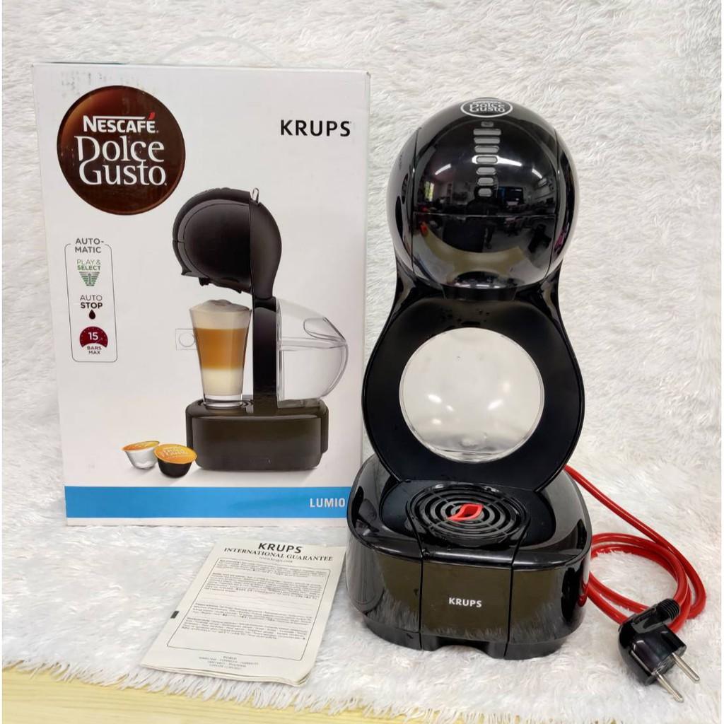 เครื่องชงกาแฟ แคปซูล NESCAFE DOICE GUSTO รุ่น Lumio Black รุ่น KP1308 กาแฟ เครื่องกาแฟ เครื่องทำกาแฟ มือสองของแท้