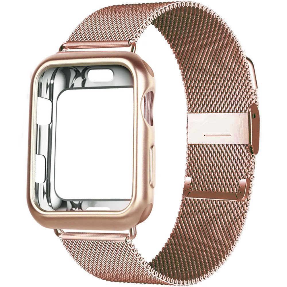 Case+strap for Apple Watch Band 44 mm 40mm 42mm 38mm Metal magnetic milanese loop bracelet iWatch series 5