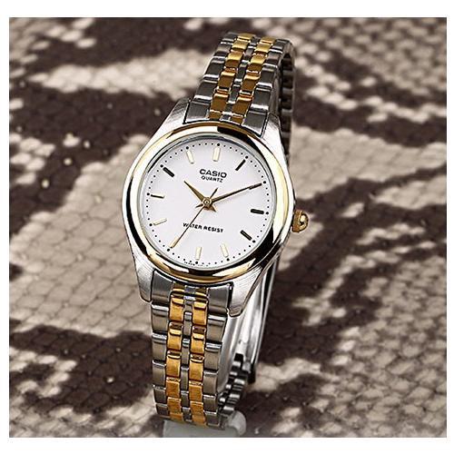 Casio Standard รุ่น LTP-1129G-7A นาฬิกาข้อมือผู้หญิง สายสแตนเลส สองกษัตริย์- มั่นใจ สินค้าของแท้ 100% ประกันศูนย์ 1 ปี