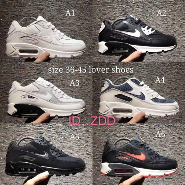 Nike Air Max 90 men and women running shoes classic Airmax shoes ready stock