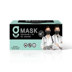 (โรงงานไทย)หน้ากากอนามัยทางการแพทย์สีดำ G lucky Mask กรอง3ชั้น มี อย. ได้มาตรฐาน ISO