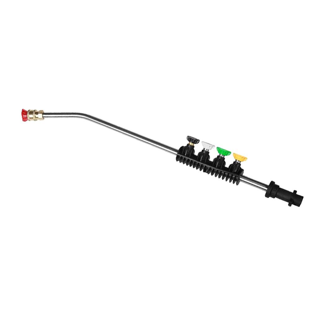 Car Washer Metal Jet Lance Nozzle w// 5 Quick Nozzle Tip for Karcher K2 K3 K5