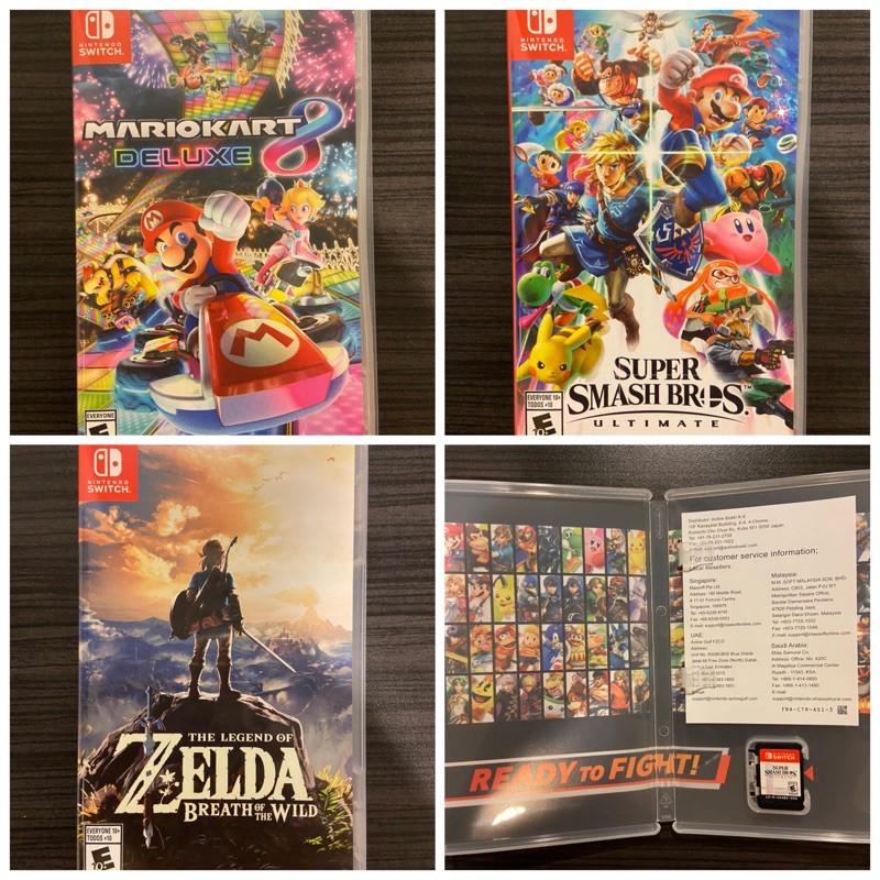 แผ่นเกมส์ Nintendoswitch มือสอง : MARIOKART, SUPER SMASH BROS., ZELDA