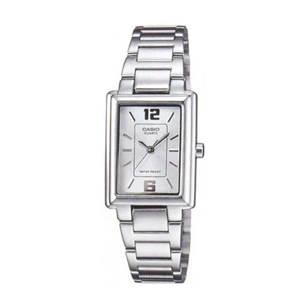 Casio นาฬิกาผู้หญิง สีเงิน สายสแตนเลส รุ่น LTP-1238D-7ADF,LTP-1238D-7A,LTP-1238D