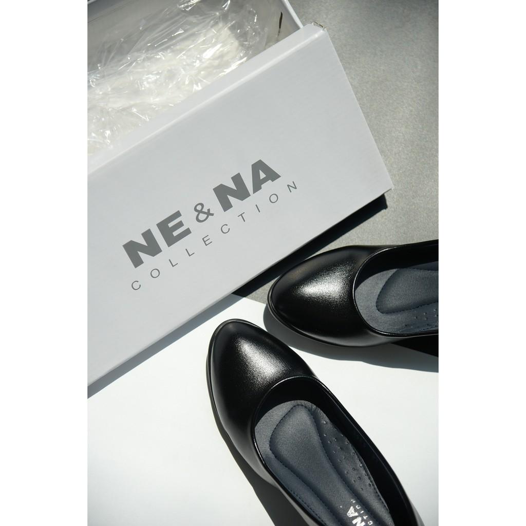 รองเท้าเเฟชั่นผู้หญิงเเบบคัชชูทำงานส้นปานกลาง No. 2915 Black NE&NA Collection Shoes d7dn