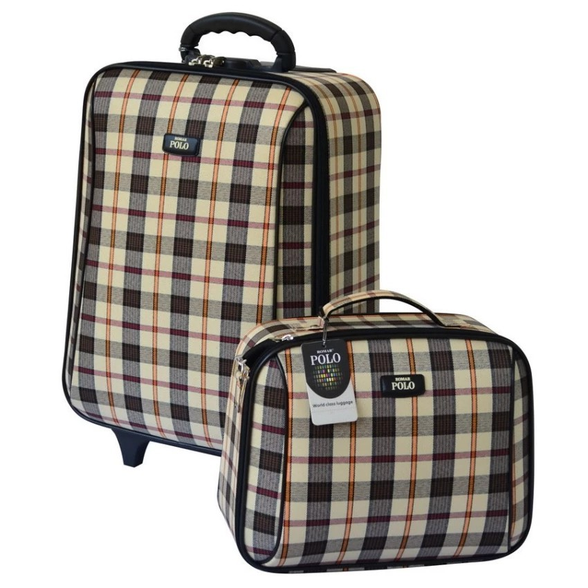 กระเป๋าเดินทาง กระเป๋าเดินทางล้อลาก Romar Polo  20/14 นิ้ว เซ็ทคู่ Code 373-7 Scott (Khaki) กระเป๋าล้อลาก กระเป๋าเดินทาง
