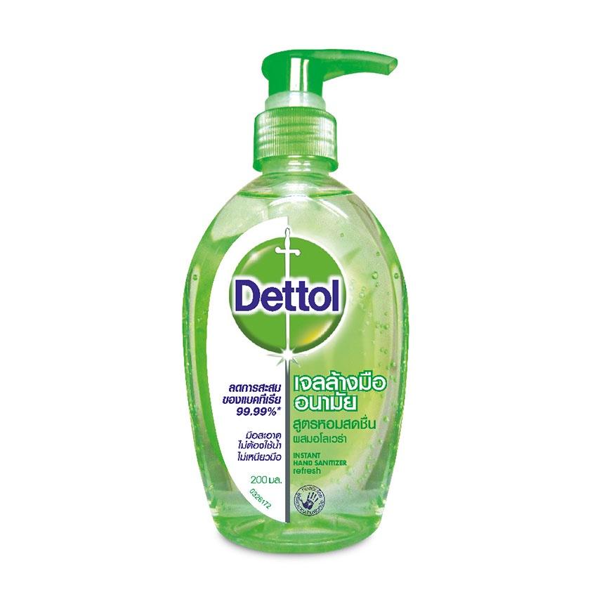 Dettol เดทตอล เจลล้างมือสูตรหอมสดชื่น 200 มล.