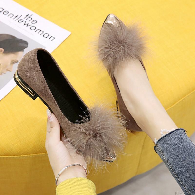 รองเท้าผู้หญิง😊รองเท้าเปิดส้น😊รองเท้าแฟชั่น รองเท้าหัวแหลมรองเท้าส้นแบนหัวแหลมสำหรับผู้หญิง รองเท้าคัชชู ส้นเตี้ย รองเ