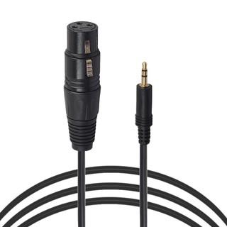 ไทยSEA!3 Pin XLR Female to 3 5mm TRS Stereo Jack Mic Audio Cord Cable