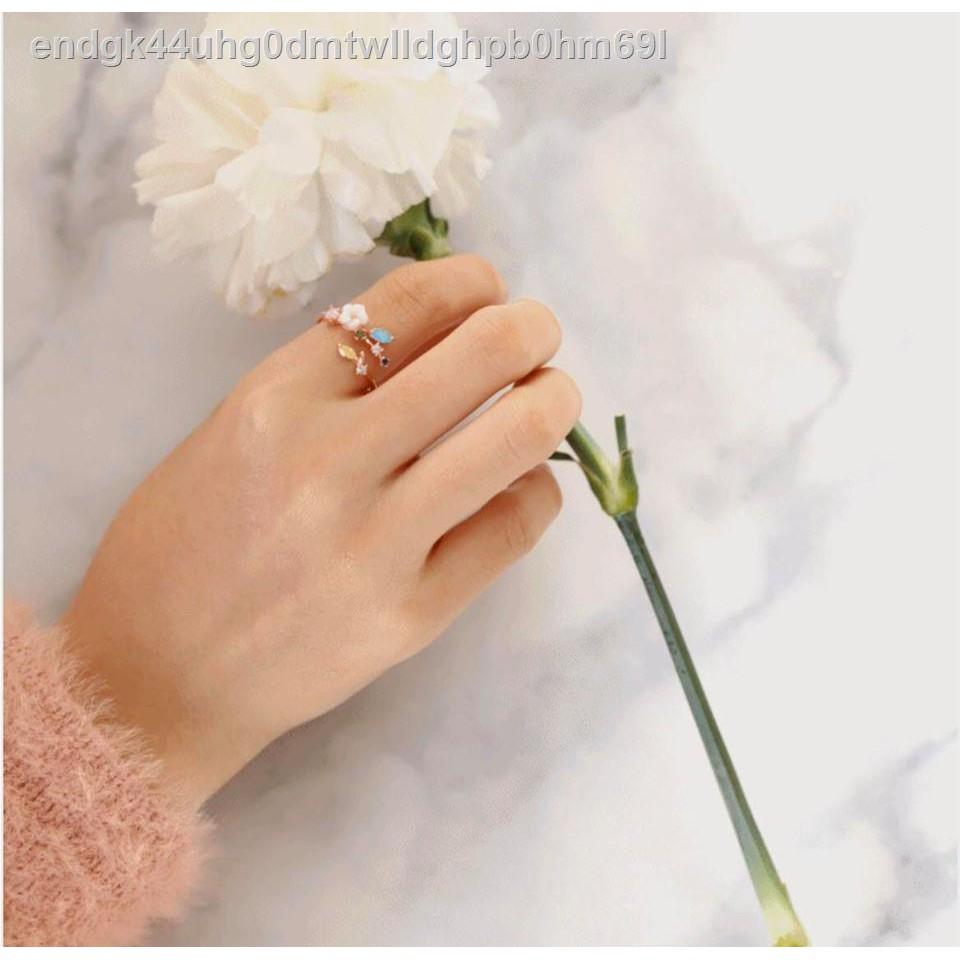 🔥มีของพร้อมส่ง🔥ลดราคา🔥⊕T.S.MORETHANTHINGS - Ring แหวนผู้หญิงผู้หญิงงานชุบทองคำขาว