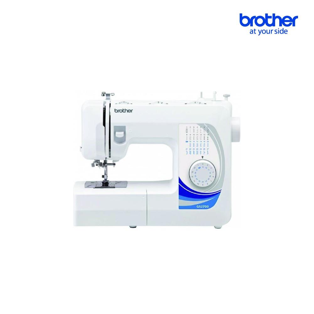 BROTHER Sewing Machine GS2700 จักรเย็บผ้าไฟฟ้า, จักรเย็บผ้าแบบพกพา, เย็บผ้าปิดจมูก, เสื้อผ้า, 27 ลาย, สนเข็มอัตโนมัติ