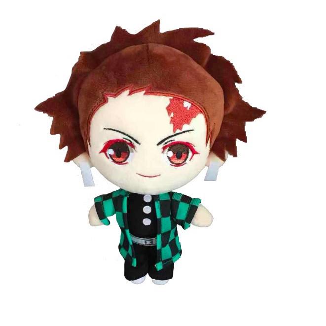 ตุ๊กตาตุ๊กตาอะนิเมะ:20cm Anime Demon Slayer Kimetsu no Yaiba Kamado Tanjirou Nezuko Mitsuri Giyuu Shinobu Figure Stuffed