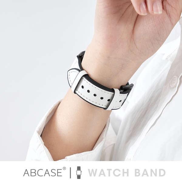 สาย applewatch ABCASE เหมาะสำหรับสายนาฬิกา Apple iwatch อย่างเป็นทางการหนัง applewatch6 / 4 สายแฟชั่น 3 / SE สายซิลิโคนผ