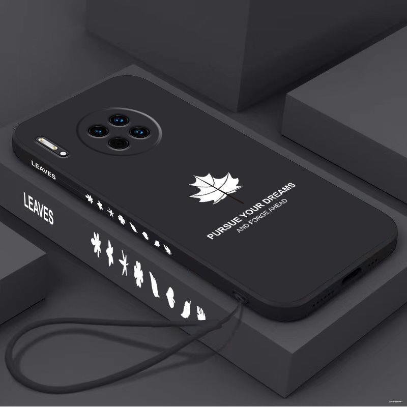 ยางยืดออกกําลังกาย✜♣(มือถือ ฟิล์มนิรภัย)  เคสโทรศัพท์มือถือ Huawei Mate30 ซิลิโคนเหลว Mate30pro / 20 20X ด้านข้างลายการ