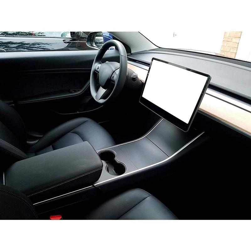 Brand New For Tesla Model 3 Matte Black Center Console Wrap Kit Set