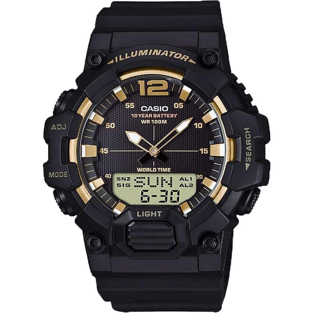 Casio แบตเตอรี่ 10 ปี สองระบบ เข็ม+ดิจิตอล นาฬิกาข้อมือ สายเรซิน รุ่น HDC-700