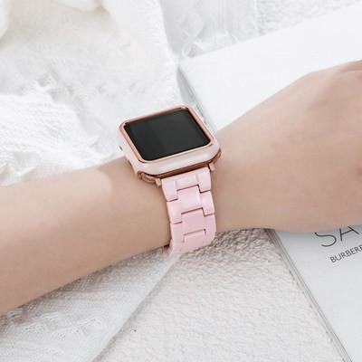 ∯ギสายนาฬิกาสำหรับ iwatch6สายนาฬิกา applewatch5สายนาฬิกาแอปเปิ้ลเซเรซินทดแทน applewatch 1/3/4/5รุ่นใหม่ applewatch แฟชั่น