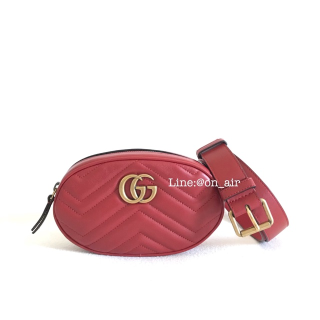 New gucci belt bag แดงปัง สวยแบบเบลล่า