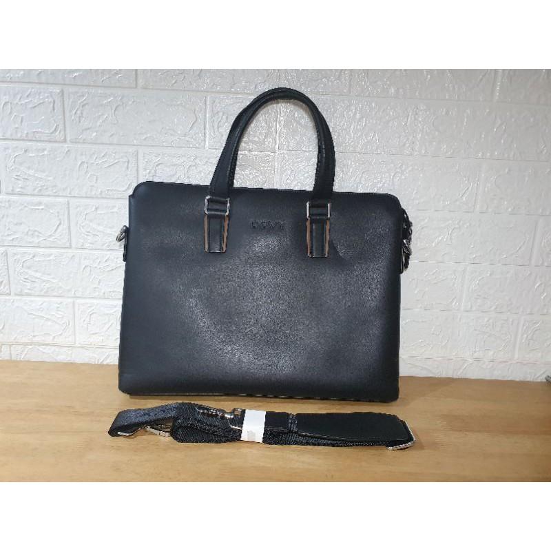 """กระเป๋าหนังแท้ Briefcase + notebook ชาย """"DEVY"""""""