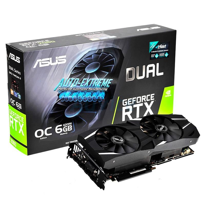 ASUS GeForce GTX 1060 DUAL-GTX1060-O6G 6GB 192-Bit GDDR5 PCI Graphics//Video Card