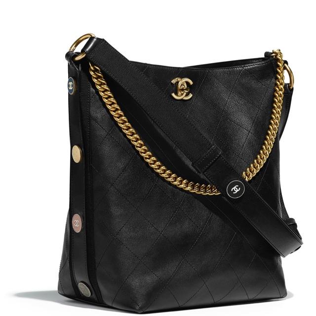 Chanel Calfskin Hobo Bag 2018