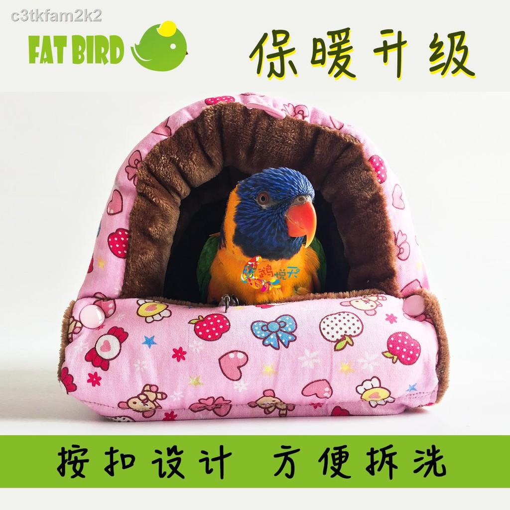 พร้อมส่ง✘☸◄Mu Yuetian นกแก้วอุ่นบ้านนก / ฉนวนกันความร้อน รังนก เปลญวนนก กล่องเพาะพันธุ์