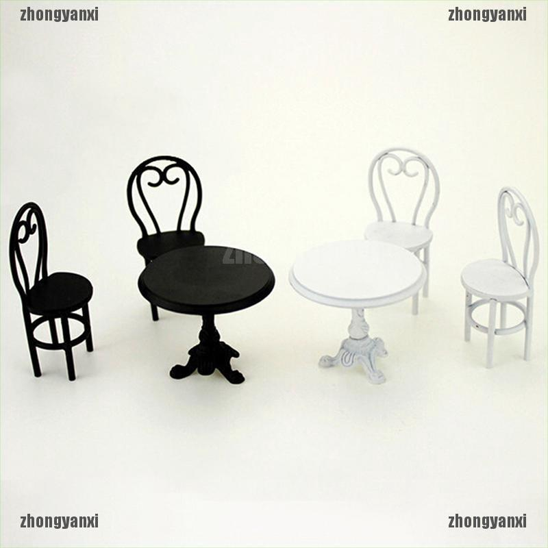 1:12 Miniature casual dining table and chairs dollhouse diy decor accessories
