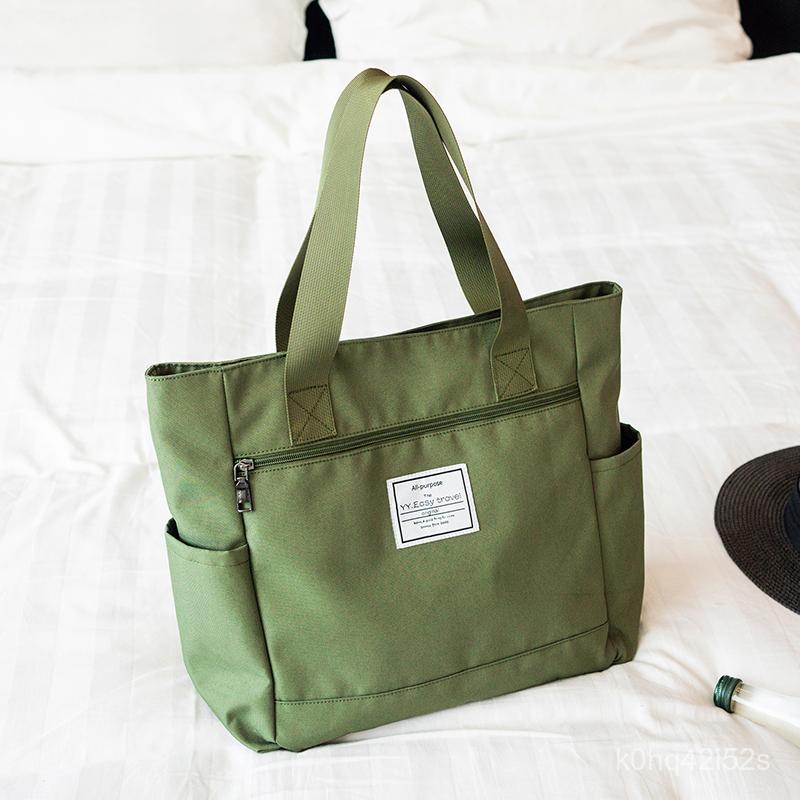 กระเป๋าผ้าแคนวาส กระเป๋าผ้าแฟชั่นลำลองไนลอนกระเป๋าผ้าใบกันน้ำของผู้หญิงกระเป๋าสะพายไหล่กระเป๋าถือกระเป๋าเดินทางกระเป๋าคุ
