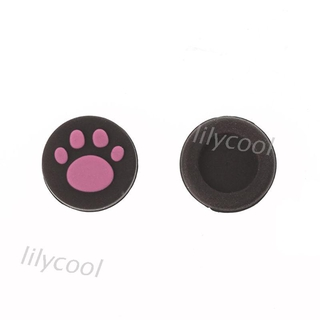 (3C) 2pcs Cat Paw Analog Controller Thumbstick Grip Cap Protective Cover For Sony PlayStation
