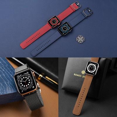 ≊☆นาฬิกากรณีอุปกรณ์นาฬิกาสายหนังวัวอิตาลีสำหรับ iWatch applewatch applewatch applewatch Apple Watch s/ 6/5/4/3รุ่นพรีเมี