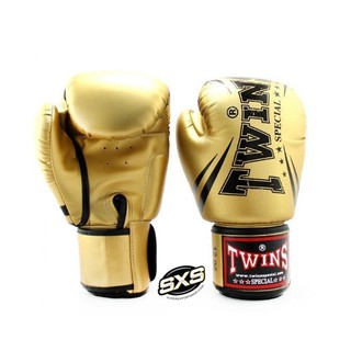 Twins Special Boxing Gloves FBGVS3-TW6 GOLD BLACK