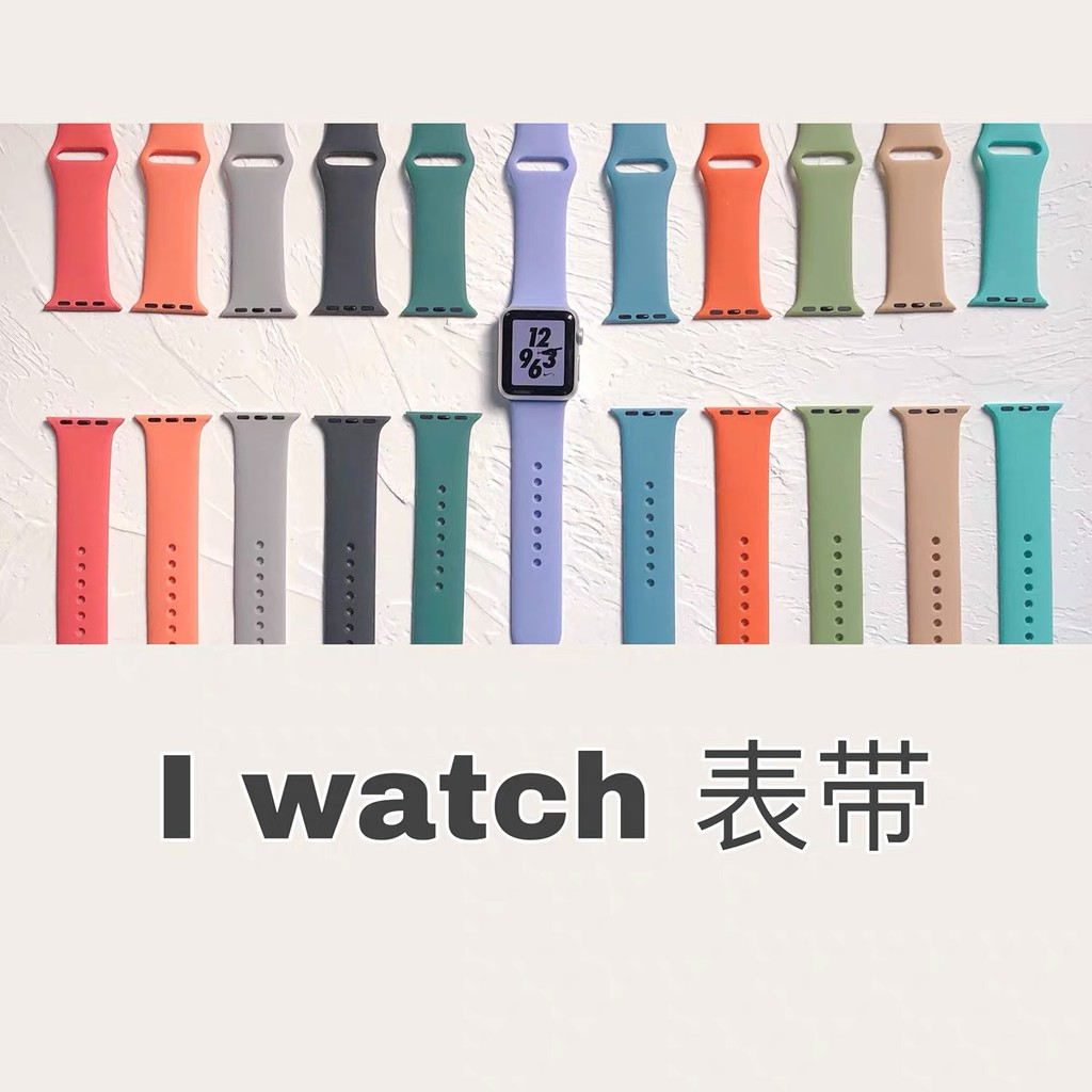 apple watch band 44 mm 40mm silicone Rubber Sports bracelet 42mm 38mm iwatch Series 6 SE 5 4 3 2 1 JXS9