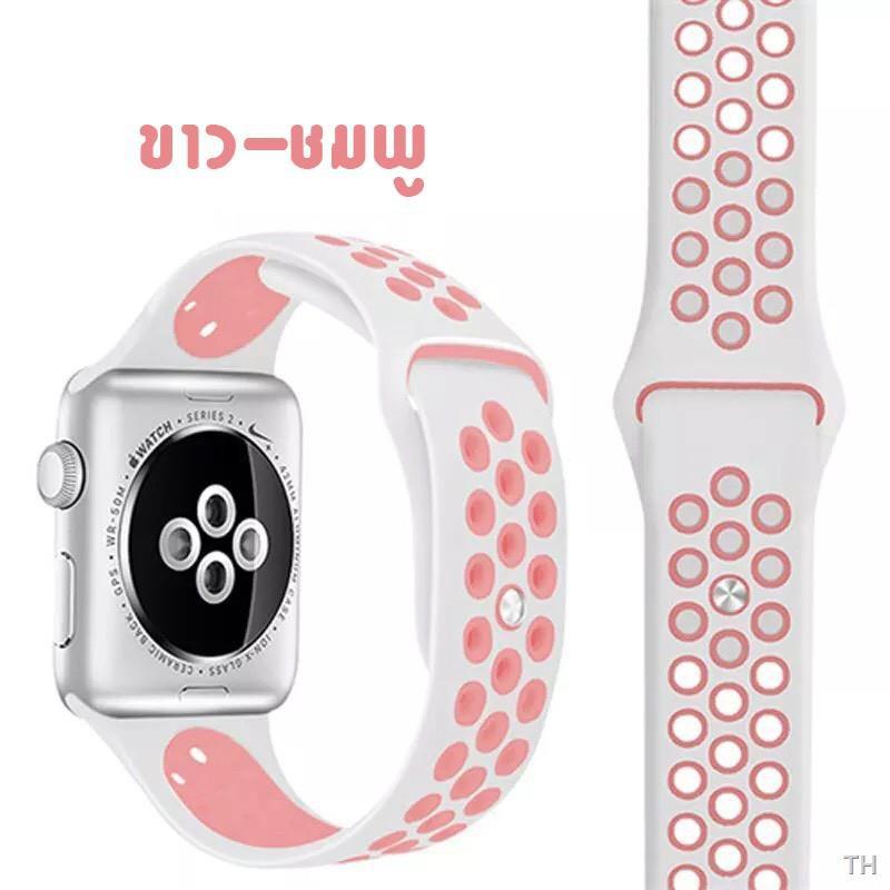 สะดวกสบาย✠✼✹●☼[ส่งเร็ว สต๊อกไทย] สาย Apple Watch Nike Sport Band สายซิลิโคน สำหรับ applewatch Series 6 5 4 3 ตัวเรื่อน 4