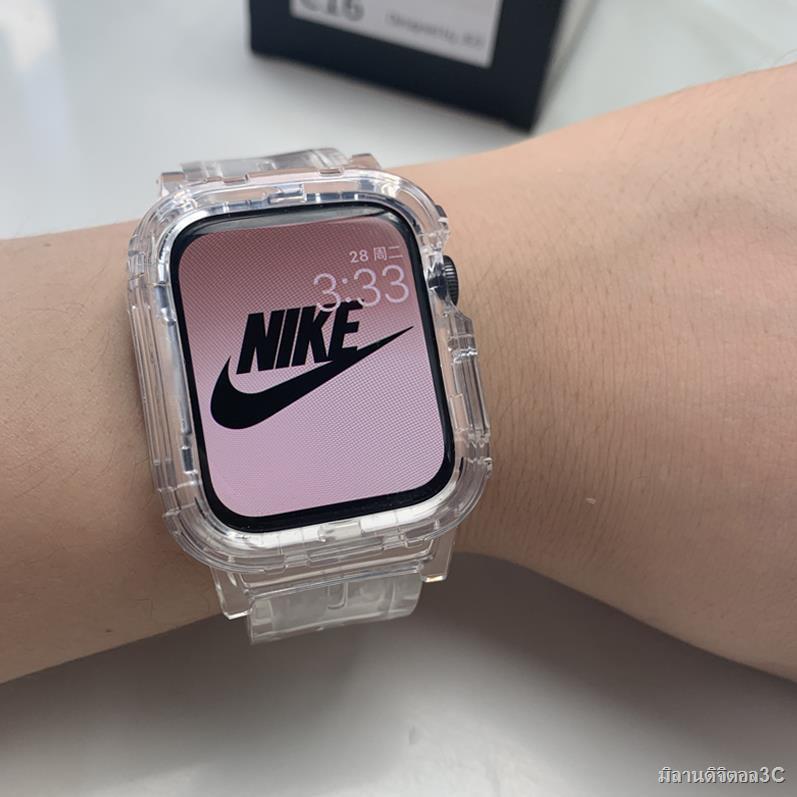 สมาร์ทวอทช์สายนาฬิกา applewatchสายนาฬิกาสแตนเลส﹍Applewatch1 / 2 345se6 การป้องกัน Apple Watch แบบชิ้นเดียวแบบโปร่งใสแล