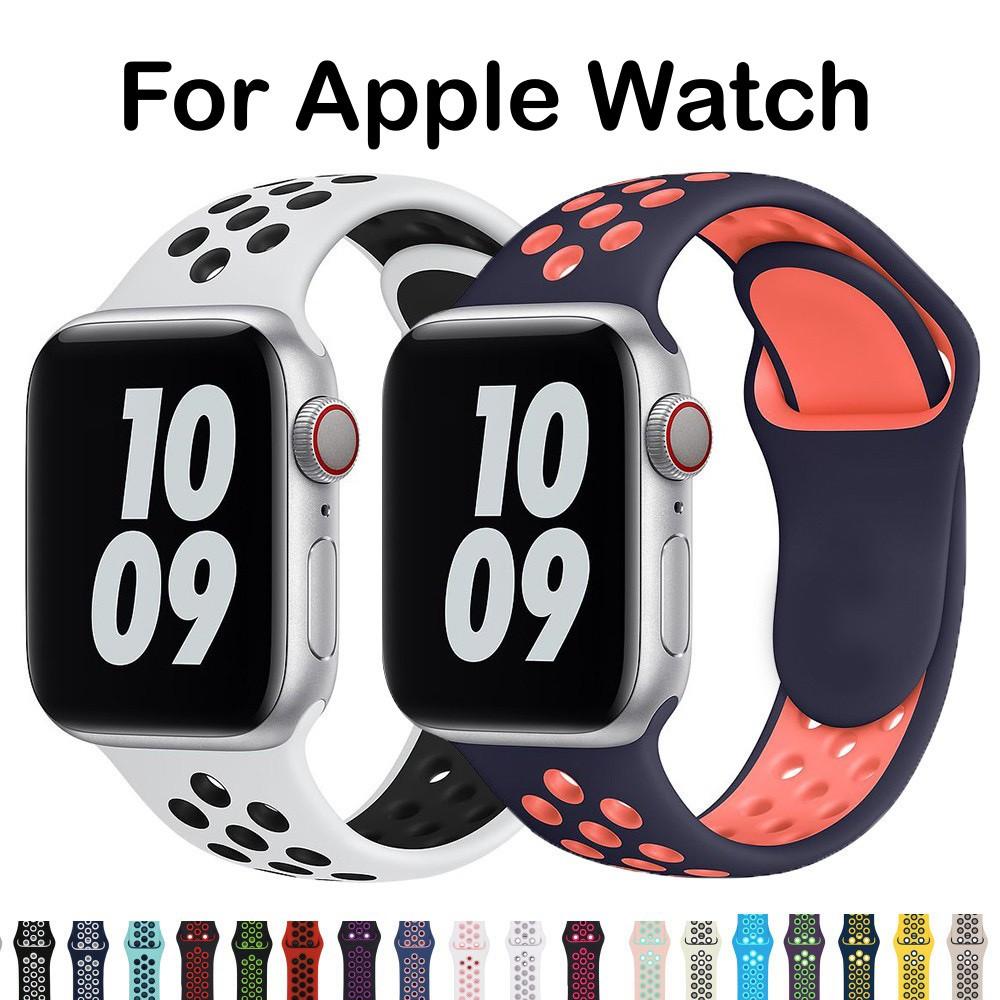 สาย applewatch applewatch series 6 ( พร้อมส่ง สายซิลิโคน Sport Nike Style ) สายซิลิโคน For Apple Watch Series SE,6,5,4,3