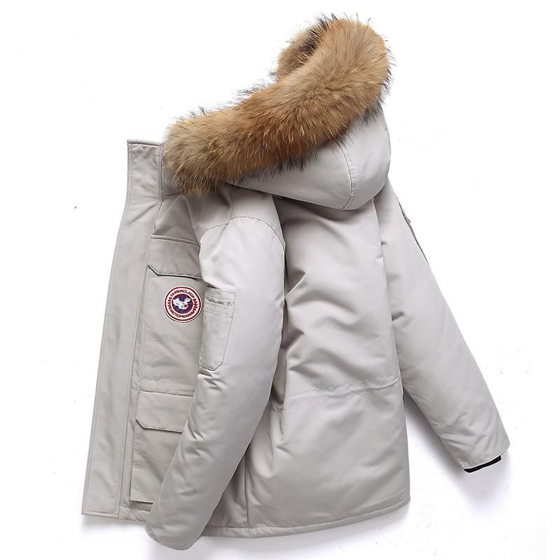 2020 ใหม่ผ้าฝ้ายเสื้อแจ็คเก็ตผู้ชายฤดูหนาว Canada Goose คู่กีฬากลางแจ้งเครื่องมือลงเสื้อแจ็คเก็ตผู้ชาย
