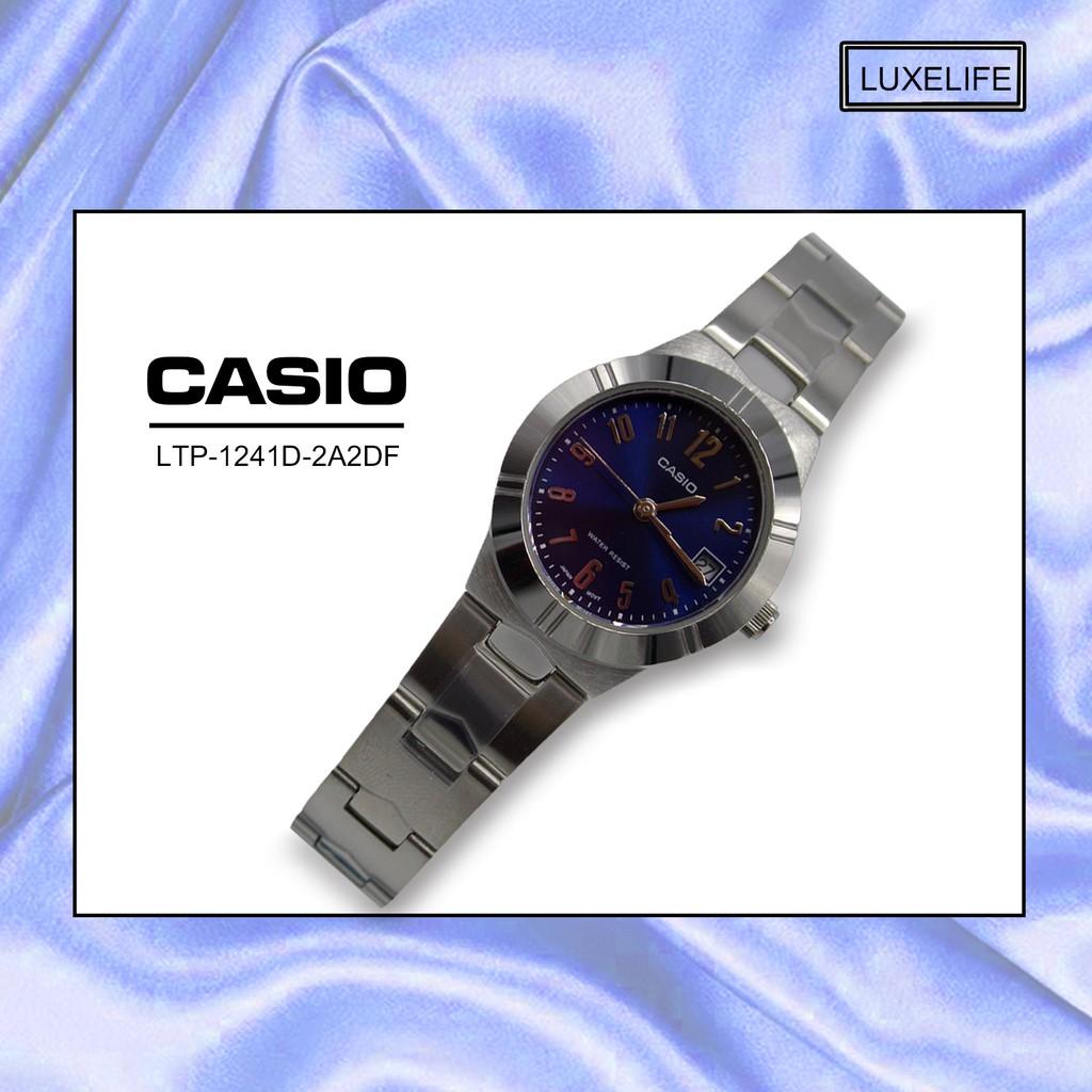 นาฬิกาข้อมือ Casio รุ่น LTP-1241D-2A2DF  -นาฬิกาข้อมือผู้หญิง สายสแตนเลส