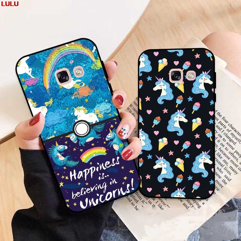 Lulu-For  Samsung A3 A5 A6 A7 A8 A9 Pro Star Plus 2015 2016 2017 2018 HMHD Pattern-4 Silicon Case Cover