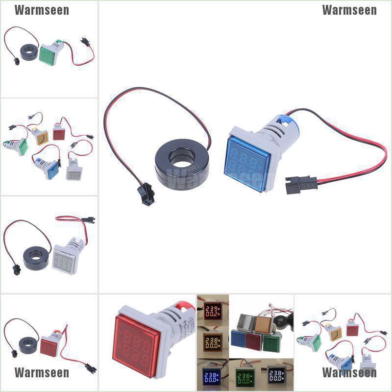 Digital White LED Dual Display Voltmeter Ammeter Voltage Meter AC 50-500V 0-100A