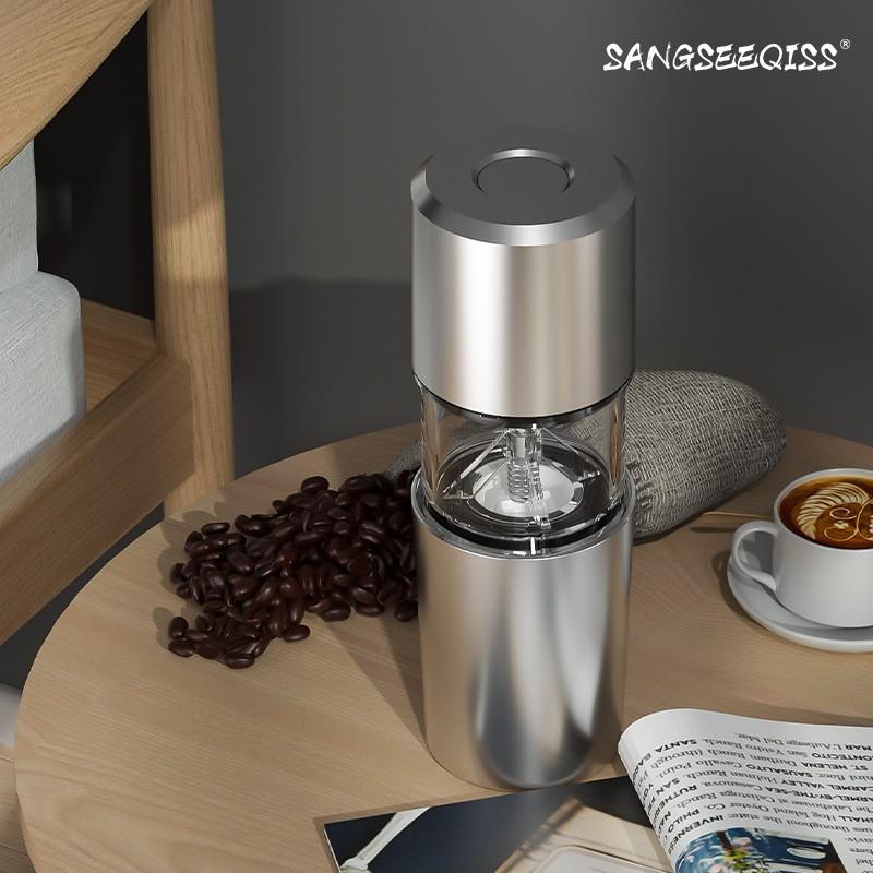 ผลิตภัณฑ์กลางแจ้ง▦∏✠เครื่องชงกาแฟแบบพกพาอเมริกัน, เครื่องบดเมล็ดกาแฟทำมือในครัวเรือนคนเดียว, เครื่องบดไฟฟ้าขนาดเล็ก
