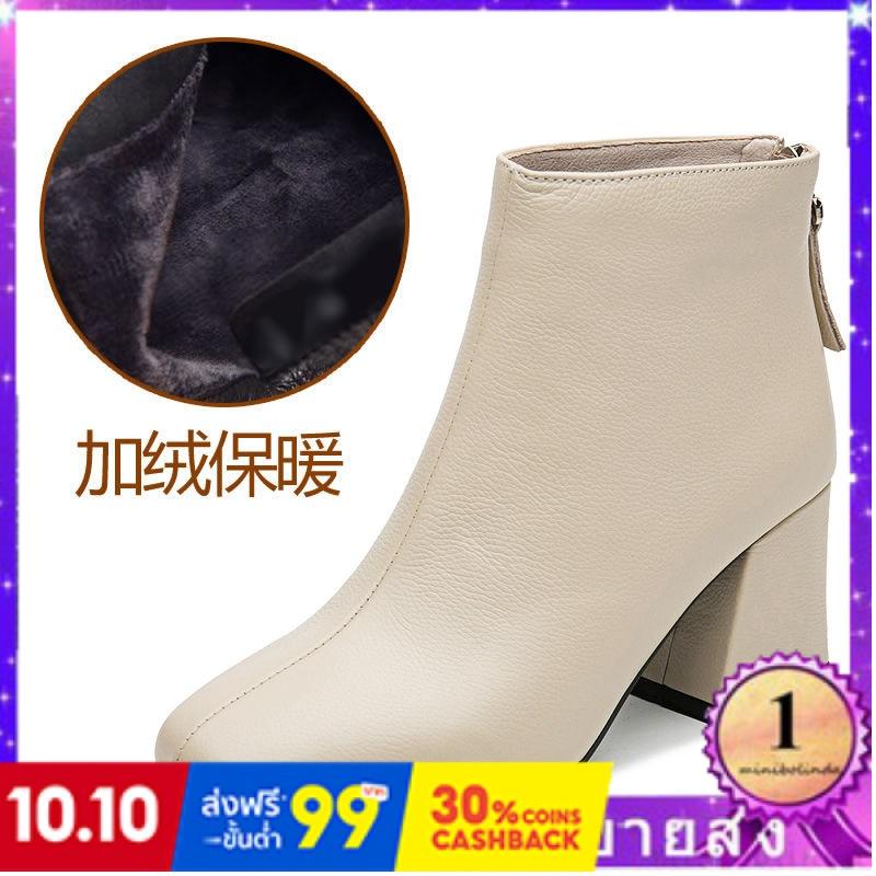 ⭐👠รองเท้าส้นสูง หัวแหลม ส้นเข็ม ใส่สบาย New Fshion รองเท้าคัชชูหัวแหลม  รองเท้าแฟชั่นรองเท้าส้นสูงของผู้หญิงหนากับฤดูใบไ