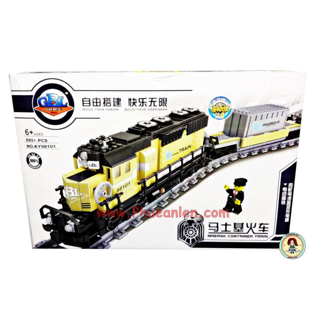 ตัวต่อเลโก้ (จีน) รถไฟวิ่งได้ มีถ่านชาร์จ No KY98101