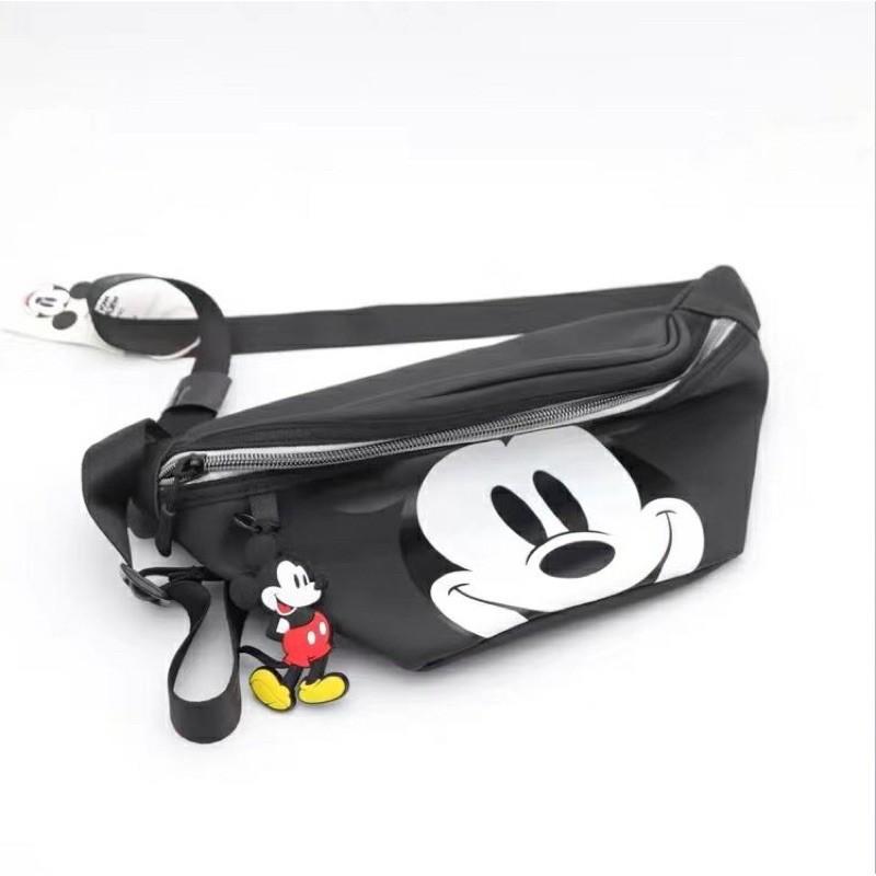 กระเป๋าคาดเอวพิมพ์ลาย Disney Mickey สําหรับผู้หญิง Anello