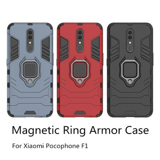 Review เคสโทรศัพท์มือถือแม่เหล็ก Xiaomi Mi 9 SE 9T 8 Pro Lite PLAY pocophone F1 Magnetic Ring Stand Hard Phone Case For 9SE 8SE 9TPro 8Pro 8Lite Shockproof Back Cover Casing