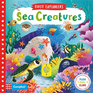Review หนังสือนิทาน ภาษาอังกฤษ Sea Creatures (First Explorers) Board book
