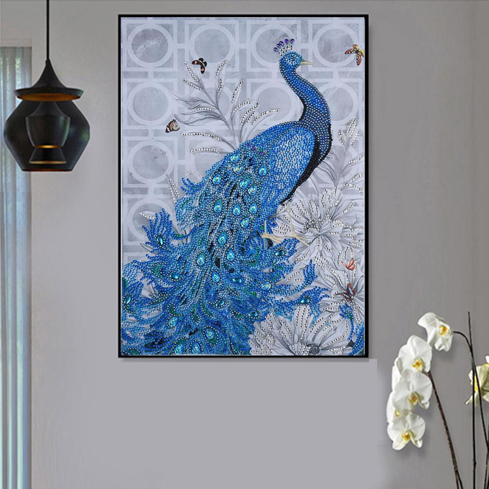 Peacock DIY Special 5D Diamond Painting Embroidery Cross Stitch Kit Home Decor