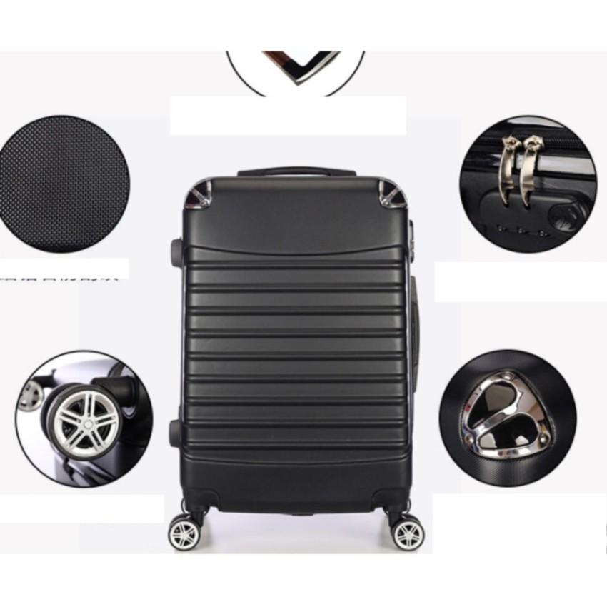 กระเป๋าเดินทางล้อลาก 24 นิ้ว สีดำกระเป๋าเดินทาง