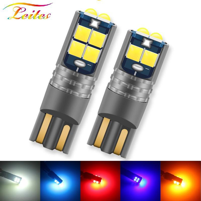 1PCS ใหม่ T10 LED Canbus W5W 3030 10SMD 10W 12V-24V 194 168 รถยนต์ LED ภายในรถยนต์แผงไฟอ่านหนังสือโดมโคมไฟช่องว่าง